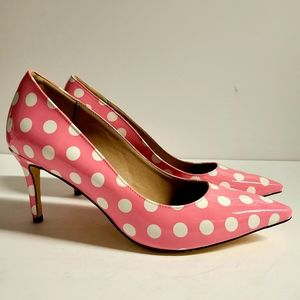 Pink and White Heels Size 11